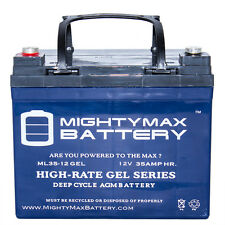 Mighty Max 12V 35AH GEL Battery for INVACARE,RANGER II 250-S,FWD,RWD,MWD