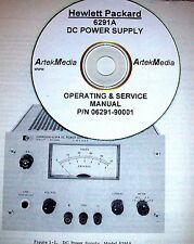 HP 6291A DC Power Supply Operating & Service Manual (good schmeatics)