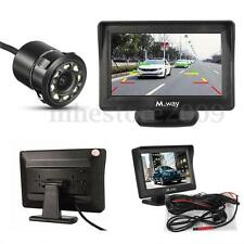 "4.3""  M.way LCD Monitor Car Rear View Cam Backup Camera Night Vision Waterproof"