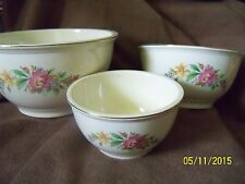 3 PC NESTING BOWLS - KITCHEN KRAFT COLLECTION - OVEN SERVE - VINTAGE