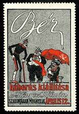 Hungary - Poster Stamp - 1915 Exhibition of Wartime Caricatures by Dezsö Bér