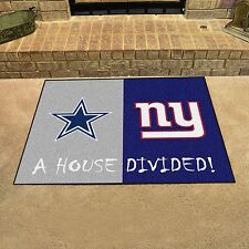Dallas Cowboys - New York Giants House Divided All Star Area Rug Mat