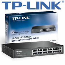 TP-Link TL-SF1024D - 24 Ports Switch - 10/100 RJ45 - Ethernet - Steel case - NEU