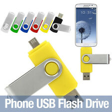 Rotated OTG Flash Drive Pen 32GB USB Flash Drives Stick for Android Phone Tablet