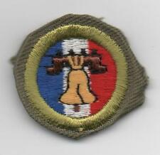 Citiz. in the Nation Merit Badge, Type E Khaki Narrow Crimped (1947-60), Mint!