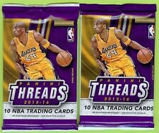 LOT (2) 2015-16 PANINI THREADS BASKETBALL ROOKIE SIGNAGE AUTO AUTOGRAPH HOT PACK