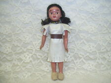 ANTIQUE NATIVE AMERICAN INDIAN DOLL W/ BEAD NECKLACE