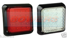 LED AUTOLAMPS SLIM SQUARE 12V/24V FOG & REVERSE TRAILER TRUCK CARAVAN LAMP LIGHT
