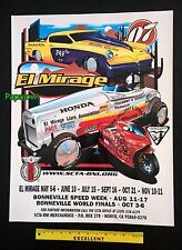 El Mirage 2007 Dry Lake Bed Poster SCTA Studebaker Roadster Bonneville Salt
