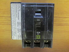 SQUARE D 80 AMP 3 POLE CIRCUIT BREAKER QO3801021 (METAL TABS) ..... VS-415
