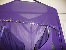 BNWOT PURPLE PIA MICHI DRESS & REMOVABLE SHOULDER COVER-SIZE 16