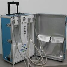 Greeloy NEW Portable Dental Unit Air Compressor+A High Speed NSK Handpiece 4H