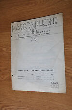 Marconiphone Model 234 4-valve battery superhet radio Genuine service Manual