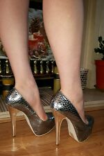 K G silver sexy shoes with silver heels size 6 / 39