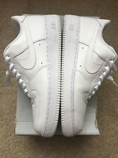 Men's Sz 11 Nike Air Force One White On White