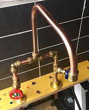 Hecho A Mano Vintage Cobre Manto Sala Cuarto De Baño Grifo de lavabo de Belfast Butler