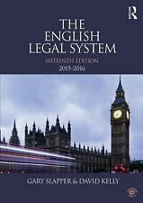 The English Legal System: 2015-2016, Kelly, David, Slapper, Gary, New Condition