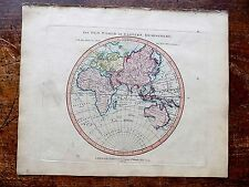 1801 Laurie Whittle Map E Hemisphere Australia New Holland Asia Old Antique Euro