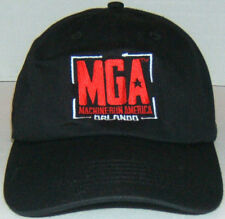 Machine Gun America  Embossed Baseball Cap 100% Cotton Black One Size Fits Most