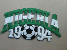 NIGERIA COLLECTABLE RARE VINTAGE PATCH EMBROIDED 1994 OLYMPIC SOCCER WORLD CUP