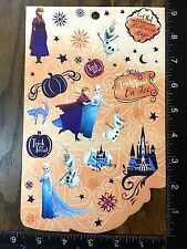 FROZEN HALLOWEEN BY DISNEY, ANNA, ELSA AND OLAF, ONE SHEET STICKERS #DULCE8