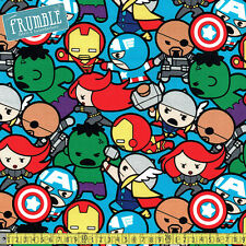 Springs Creative Fabric Marvel All In The Pack Multi PER METRE Kawaii Licensed C