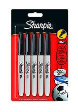 SEALED Sharpie Black Ink FINE Point Bullet Tip Permanent Marker Pens Pack of 5