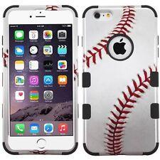 """Tuff HYBRID Armor Hard Case Cover Baseball Black For Apple iPhone 6S PLUS 5.5"""""""