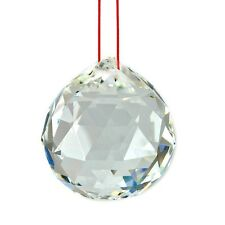 "FENG SHUI HANGING CRYSTAL BALL 1.5"" 40mm Sphere Prism Faceted Sun Catcher Clear"