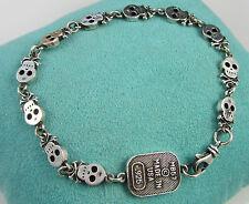 KING BABY Rare Sterling Silver FOR THE CHOSEN FEW Queen Baby SKULL BONE Bracelet