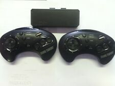 Dual Turbo Wireless Controllers for Sega Genesis & Sega CD by Akklaim FREE SHIP