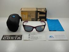 COSTA DEL MAR TREVALLY POLARIZED SUNGLASSES ORCHID/GRAY 580P LENS GT49 OGP, NEW!