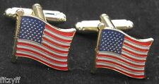USA Cuff Links American Stars and Stripes America Country Flag Cufflinks