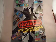 Nintendo Now You're Playing with Power Foldable NES Promo Poster Insert ONLY #B1