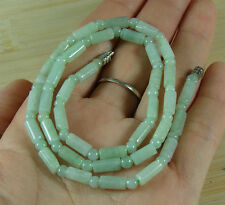 Green Bead Necklace Chinese Natural Grade A Jade Jadeite Pendant B-174-1