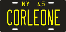 The Godfather Don Corleone mobster mafia 1945 New York License plate