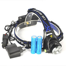5000LM XM-L T6 LED Zoomable Headlight Head Torch Lamp 2 X 18650 + AC/Car Charger