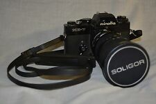 UNTESTED MINOLTA XE-7 Camera Body with SOLIGOR 37-150MM Zoom Lens macro AS-IS