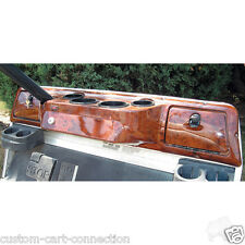 Club Car DS Golf Cart Car Dash Board Cover Dark Wood Grain 4 Cup - Fast Shipping