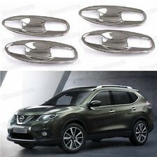 Chrome External Door Handle Bowl Cover Trim for Nissan X-Trail Rouge 2014-2015