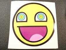 Awesome LSD Face Smiley Sticker Decal Funny JDM DUB