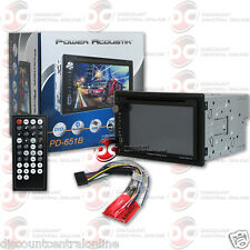 "POWER ACOUSTIK PD-651B 2DIN 6.5"" TOUCHSCREEN DVD CD USB STEREO W/ BLUETOOTH"