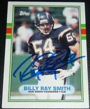 Billy Ray Smith Signed Chargers 1989 Topps Football Card #309 Autograph Arkansas
