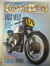 Classic Bike Magazine. No. 122. March, 1990. Fast Velo. NSU. Bonnie. A65. Comman