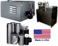 Waste Oil Heater - 300,000 BTU - 80 Gallon Tank - ROOF Chimney Kit - 10,000 sqft