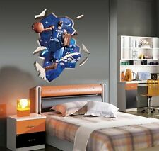 Basketball star 3d image home Decor Removable Wall Sticker/Decal/Decoration