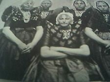 postcard old undated holland dutch girls