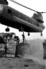 Vietnam 1970 - Soldier Rigging Load To CH-47 Chinook Helicopter Chu Lai Area