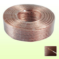 20M 2 X 4MM 322 STRANDS SPEAKER CABLE OXYGEN FREE COPPER CLAD AUDIO WIRE