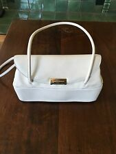Authentic Dolce & Gabbana Cream& White Leather Handbag,Purse,Satchel Gold Accent